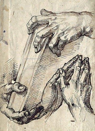 Bartolomeo Passarotti: Studie zweier Handpaare. Um 1582/83