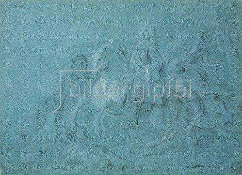 Pierre Subleyras: Reiterporträt des Duc de la Vieuville. 1746/47