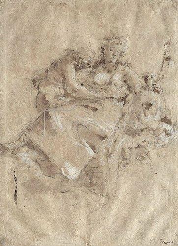 Giustino Menescardi: Tithonus und Aurora.