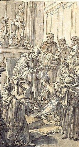 Pier Leone Ghezzi: Die Weihe der Hl. Giuliana Falconieri. Um 1737