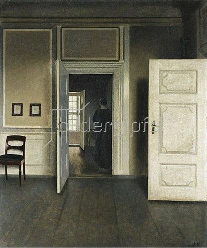 Vilhelm Hammershoi: Interieur. Strandgade 30. 1901