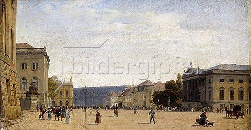 Johann Philipp Eduard Gaertner: Unter den Linden, Berlin. 1836