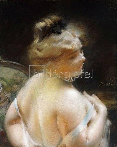 Albert Besnard: Dame mit einer Perlenkette.