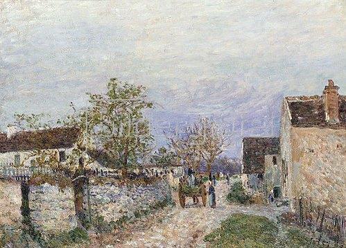 Alfred Sisley: Rue à Veneux. 1883