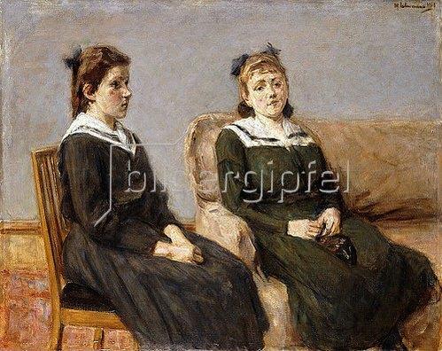 Max Liebermann: Die Zwei Schwestern Leder. 1911