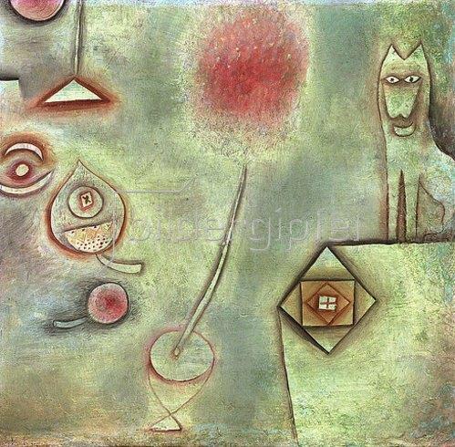Paul Klee: Stillleben mit Tierstatuette. 1928