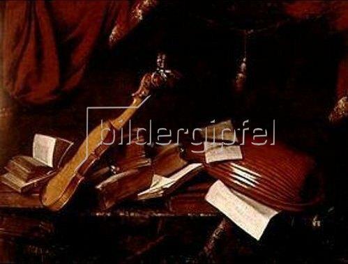 Franz Friedrich Franck: Stilleben mit Geige und Laute.