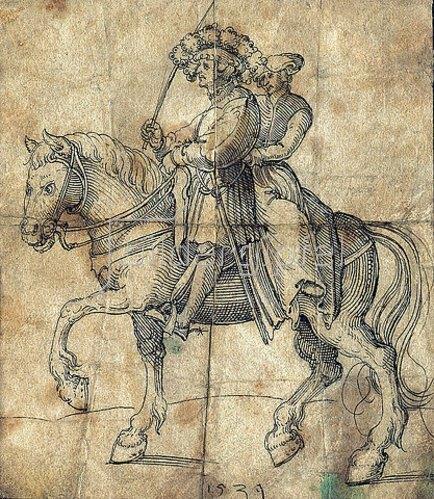 Erhard Schön: Reitendes Paar. 1539