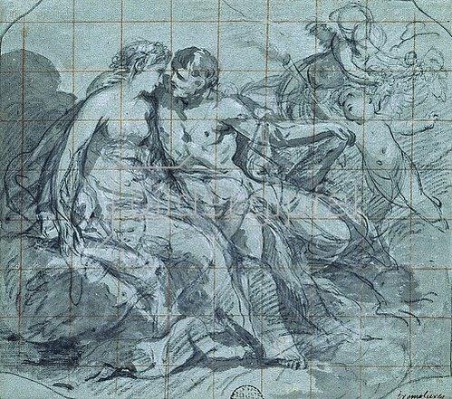 Pierre Charles Tremolières: Herkules und Hebe. Um 1737