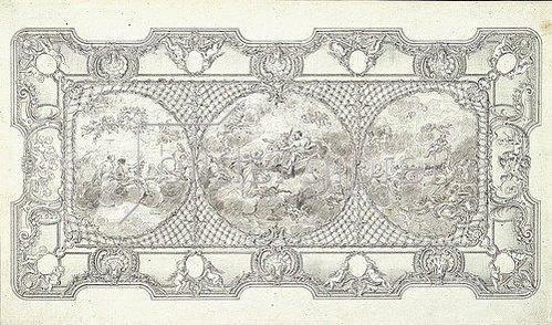 Nicolas de Pigage: Plafond des westlichen Gartensaals von Schloss Benrath. Um 1769