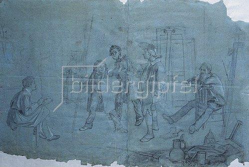 Johann Peter Hasenclever: Atelierszene. 1836
