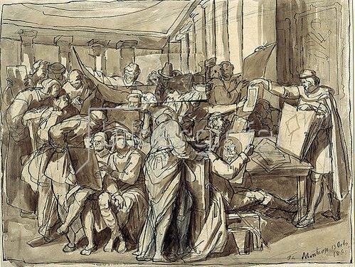 Theodor Mintrop: Das Betrachten graphischer Blätter. 1860