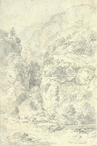 Andreas Achenbach: Gebirgslanschaft. 1901
