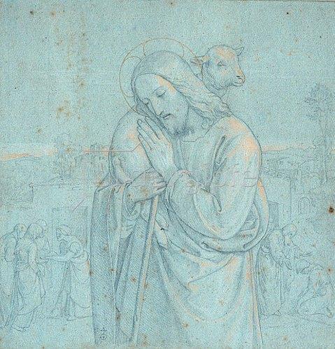 Joseph Ritter von Führich: Der gute Hirte. Um 1840