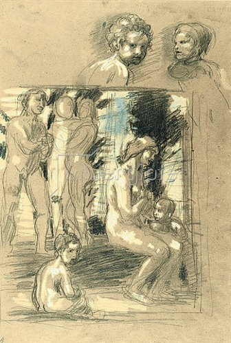 Hans von Marées: Lob der Bescheidenheit - recto. Um 1879