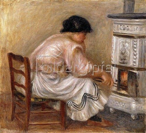 Auguste Renoir: Frau an einem Kamin. 1912