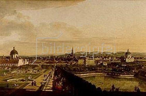 Bernardo (Canaletto) Bellotto: Wien, vom Belvedere aus gesehen.