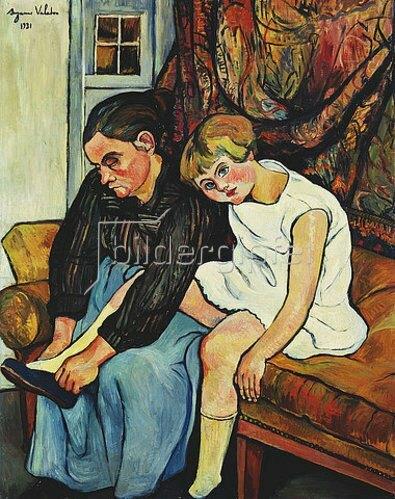 Suzanne Valadon: Bei der Großmutter (Grandmère chaussant une Fillette). 1931