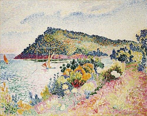 Henri Edmond Cross: Le Cap Nègre, La Baie de Pramousquier. 1906