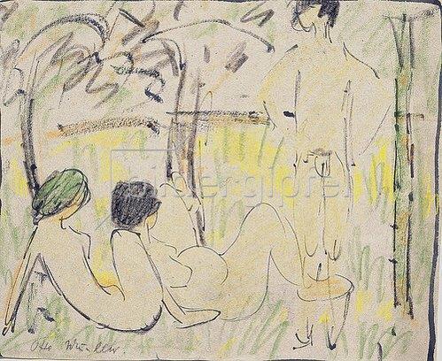 Otto Mueller: Drei Mädchen.