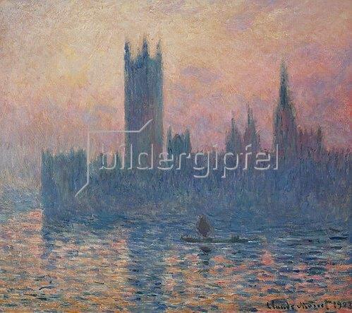 Claude Monet: Das Parlament in London bei Sonnenuntergang. 1903