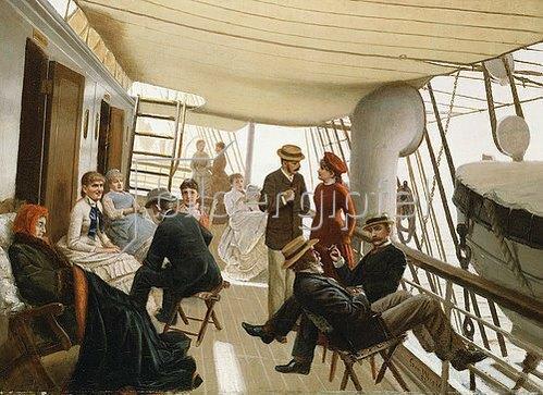 George Wright: Auf dem Kreuzfahrtschiff. 1882