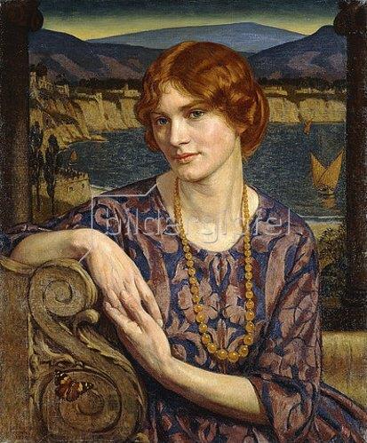 John Bernard Munns: Porträt einer Frau (Fantasy). 1924