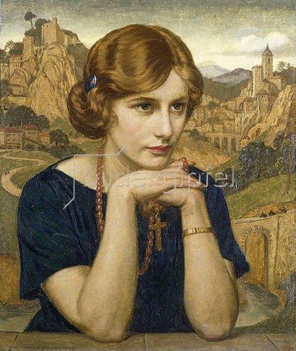 John Bernard Munns: Porträt einer Frau (Enigma). 1923