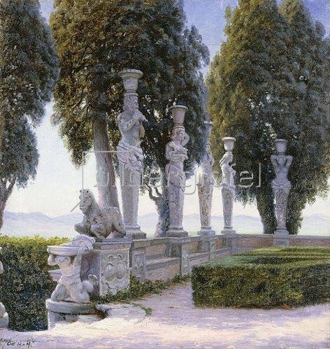Adolf Heinrich Hansen: Karyatiden im Garten der Villa Farnese, Caprarola.