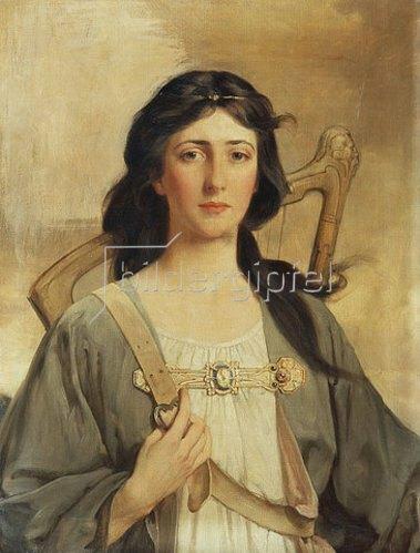 Talbot Hughes: Porträt von Erin. 1898