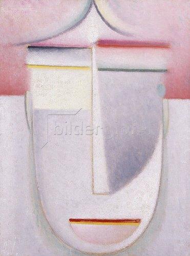 Alexej von Jawlensky: Abstraker Kopf: Komposition Nr. 2 'Winter'. Um 1924