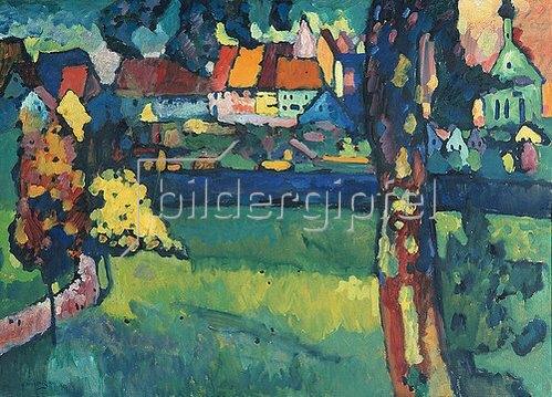 Wassily Kandinsky: Oberbayerische Kleinstadt (Murnau). 1909
