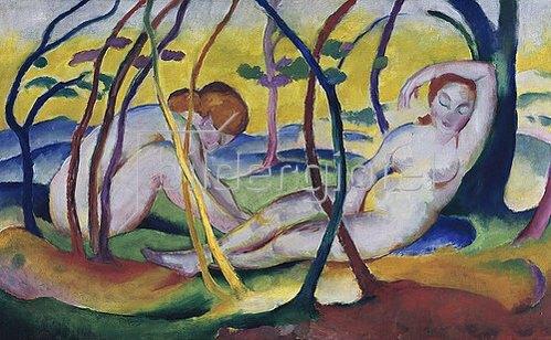 Franz Marc: Akte unter Bäumen. 1911