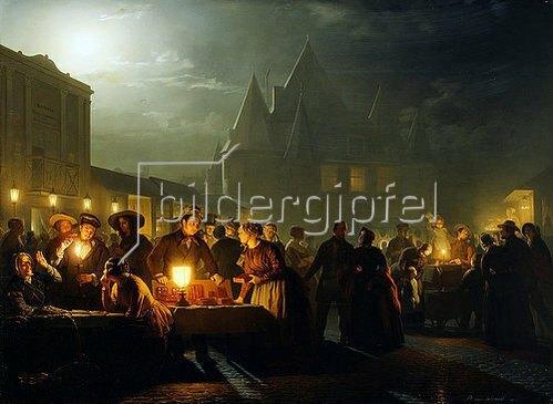 Petrus van Schendel: Die Büchermesse. 1852