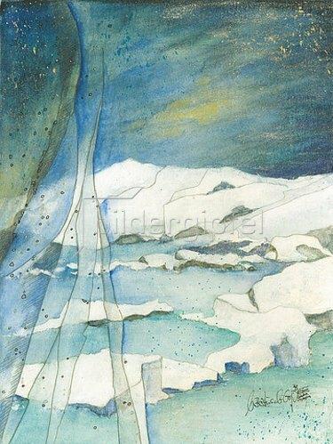Annette Bartusch-Goger: Island, Jökulsárlon: Gletschersee.