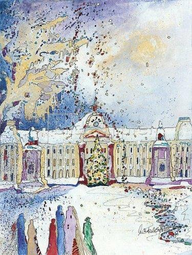 Annette Bartusch-Goger: Belgien, Brüssel: Königlicher Palast im Winter.
