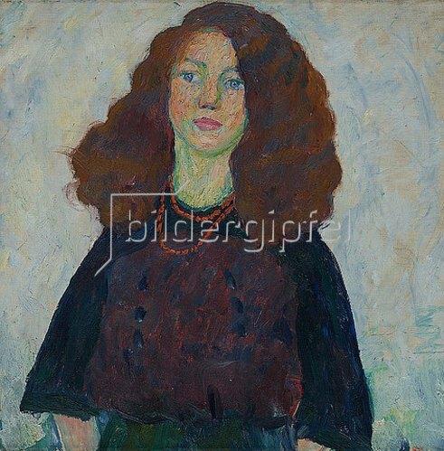Walter Ophey: Mädchen mit aufgelöstem Haar. Um 1909