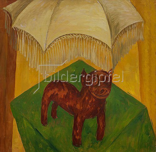 Walter Ophey: Hund mit Schirm. 1925/1926