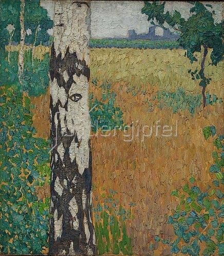 Walter Ophey: Birkenstamm. 1908/1909