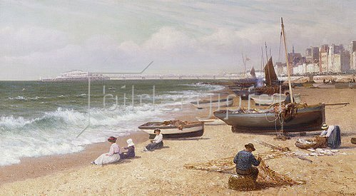Alexander Young: Am Strand in Brighton.