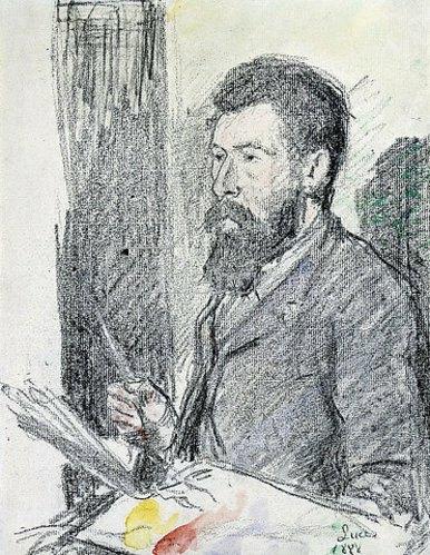 Maximilien Luce: Bildnis von Georges Seurat (1859-1891). 1888