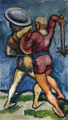 August Macke: Zwei Kämpfende. 1910