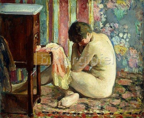 Henri Lebasque: Akt mit rosa Unterkleid (Nu à la Chemise Rose). 1926