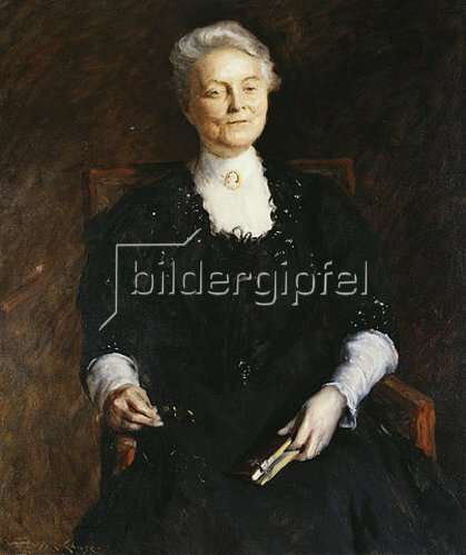 William Merrit Chase: Portrait einer älteren Dame. 1907