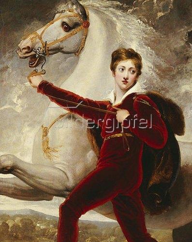 Thomas Stothard: Portrait eines Jungen mit Schimmel.