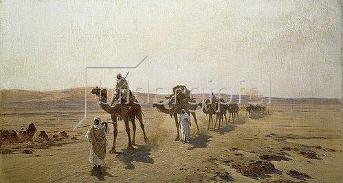 Ludwig Hans Fischer: Eine Karawane in der Wüste. 1903