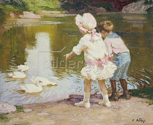 Edward Henry Potthast: Kinder im Park.