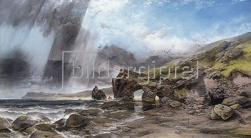 Henry Bright: Felsküste bei Padstow in Cornwall.