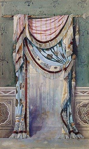 Französisch: Ein Entwurf für einen Vorhang. Um 1880