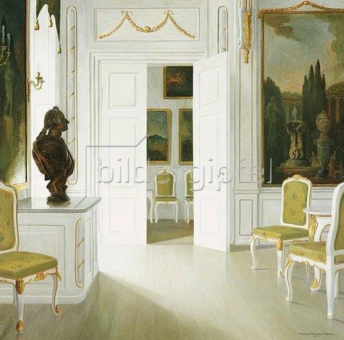 Christian Tilemann-Petersen: Empfangszimmer in Schloss Fredensborg. 1921
